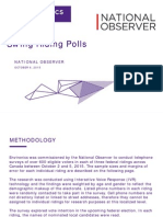 Environics - National Observer Swing Riding Poll Report - Oct 6-15