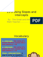 11-3 Using Slopes and Intercepts