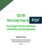 2 ECE499 Wind Resources PowerBasics 05Oct2015