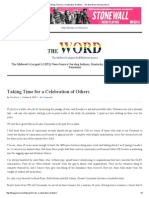 Taking Time for a Celebration of Others - The Gay Word the Gay Word