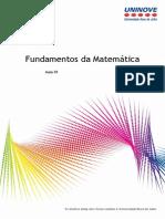 Aula 01 - Fundamentos da Matemática
