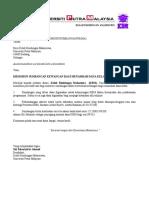 Surat Sumbangan Dana