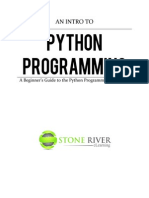 Python for Beginners eBook Stone River ELearning