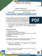 Unidad 5 Actividad Evaluación de Un Proceso Del Sistema de Gestión de Calidad - Juan David Sanabria