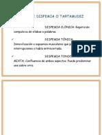 Tipos de Disfemia o Tartamudez