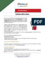 Ficha Tecnica - EXTINTOR ABF 6 Litros