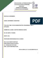 Vías de administración Intradermica, Oral y Oftalmica..docx