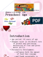 nutrition for preschool-age children