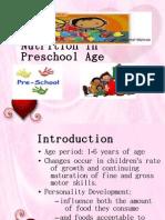 nutrition for preschool-age children