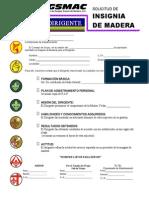 Insignia de Madera Dirigente