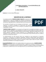 Diagnostico Del Entorno Con Dofa y Plan Estratégico de Emprendimiento