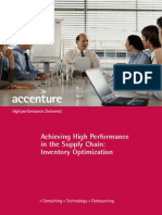 Accenture Management Consulting Inventory Optimization