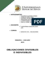 OBLIGACIONES DIVISIBLES INDIVISIBLES  -ANIBAL TORRES VASQUEZ