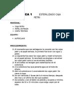 Practicas de Bacteriologia (especializado en la deteccion de bacterias)