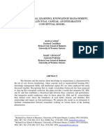 ORGANIZATIONAL LEARNING, KNOWLEDGE MANAGEMENT, AND INTELLECTUAL CAPITAL