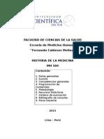 Sylabus Historia de La Medicina 2015-I