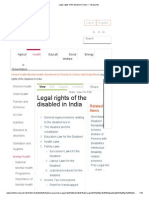 Legal Rights of the Disabled in India — Vikaspedia
