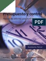 Presupuesto y Control - Petrei