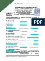 004 El Principio Del Placer. 004-2015 José Emilio Pacheco. Contestado
