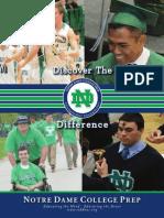2015-2016 Notre Dame College Prep Viewbook