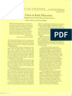 the crisis in early childhood education