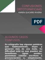 CONFUSIONES ORTOTGRÁFICAAS