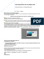 Instrucciones HTML