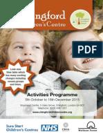 Activities October to December 2015