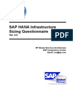 HP SAP HANA Sizing Questionnaire v4.5-Exercise 3
