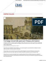 Un Largo Recorrido Para Ser Oaxaca de Juárez