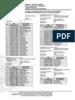 Nomor Kursi UAS - Ganjil 2013-2014 - Reguler