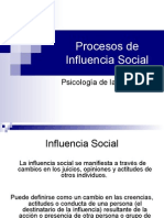 Procesos de Influencia Social