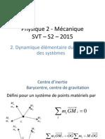 2. Dynamique Du Point Et Des Systèmes