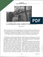 La represión del ámbito vernáculo. Ivan Illich