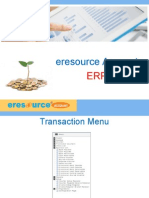 Enfra Accounts Transaction Reports