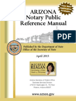 AZ Notary Public Reference Manual