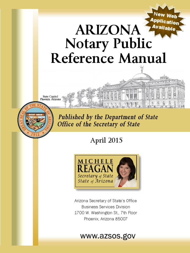 AZ Notary Public Reference Manual