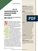 An Application of Nanotechnology in Advanced Dental Materials(1)
