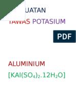 Pembuatan Tawas Potasium Aluminium