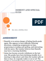 Assessment and Special Services