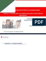 INTRODUCCION Y DEFINICIONES GENERALES DE DIRECCIÓN DE OPERACIONES