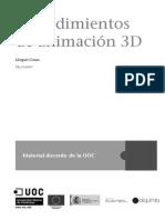 Procedimientos de Animación 3D - Portada