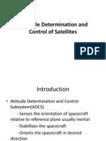 Attitude Dynamics and Control