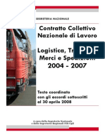 2008 - Ccnl Merci e Logistica 2004-2007