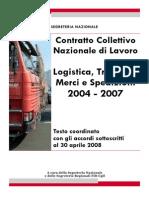 2008 - Ccnl Merci e Logistica 2004-2007