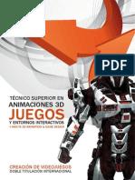 FP CEV Tecnico Superior en Animaciones 3d Juegos y Entornos Interactivos