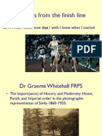 What i know now Graeme Whitehall
