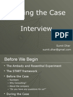 Cracking Case Interviews