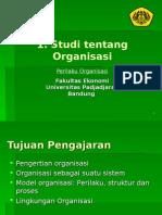 1. Studi Tentang Organisasi