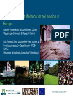 Risk assessment methods for soil erosion in Europe